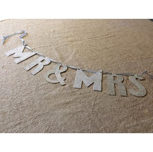 Mr. and Mrs. in Silver Glitter
