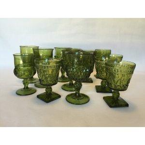 Dark Green Goblets