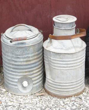 Vintage Galvanized Cans