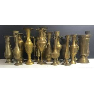 Tall Brass  vases