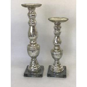 Mercury Glass Candlestick 13