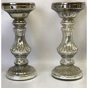 mercury glass candlestick 9