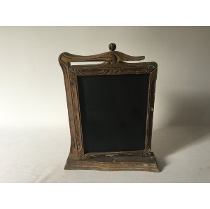 Gold Framed Chalkboard on stand