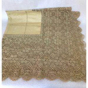 Ecru lace tablecloth