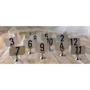 Metal Table Numbers (1-12)