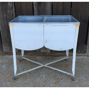 WINNIE WHITE DOUBLE WASH TUB