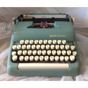BLUE GREEN TYPEWRITER