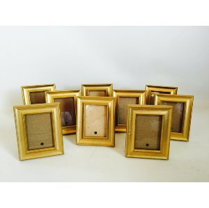 Small Matching Gold Frames  3 x 5