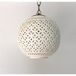 PEARL White ceramic hanging light