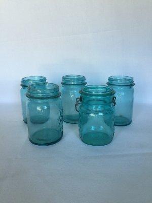 Aqua Mason Jars pint size