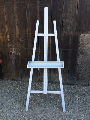 Large Gray Art Style Easel