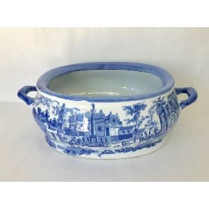 BLUE AND WHITE CACHEPOT