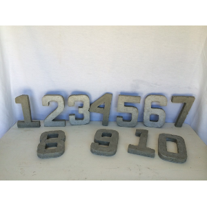 Clay Table Numbers 1-10
