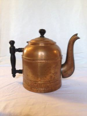 Copper tea kettle vessel