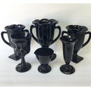 Vintage black vases