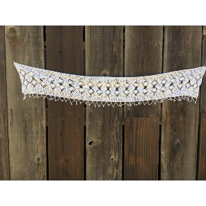 TORI White crochet trim