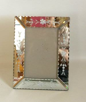 Mirrored silver frame