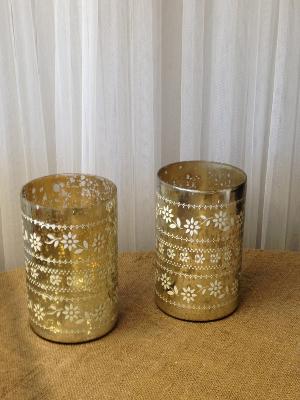 Patterned Mercury Glass
