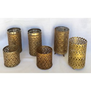 Brass Filigree containers