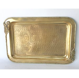 floral Brass tray    15.25