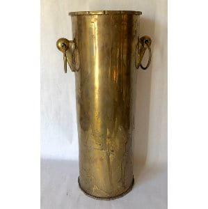 brass cylinder vase