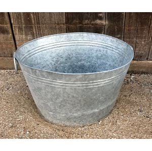 BELL OVAL GALVANIZED BUCKET
