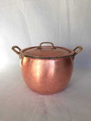 Copper soup pot