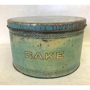BLUE CAKE TIN