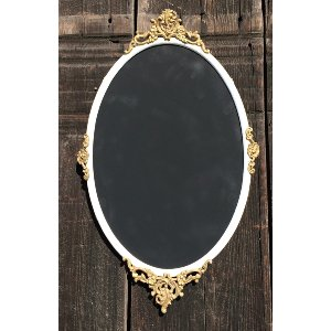 FANN WHITE AND GOLD METAL FRAME