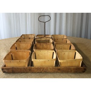 Wood Berry Basket tray