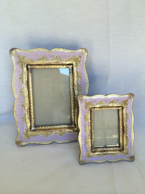 Lavender and Gold Frames