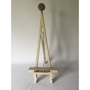 Eugenie Gold and cream easel small