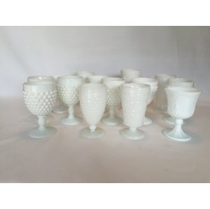 Milk Glass Goblets