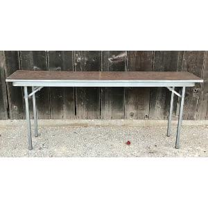 Wood and metal narrow table