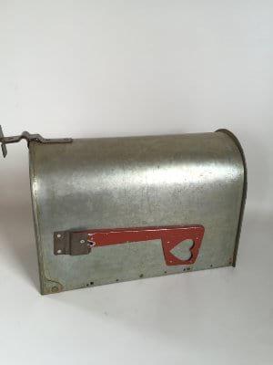 Galvanized Mailbox with heart
