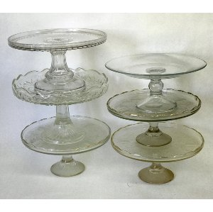 Medium Glass Cake Stand 10