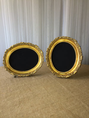 SMALL OVAL GOLD FRAMES 10 x12