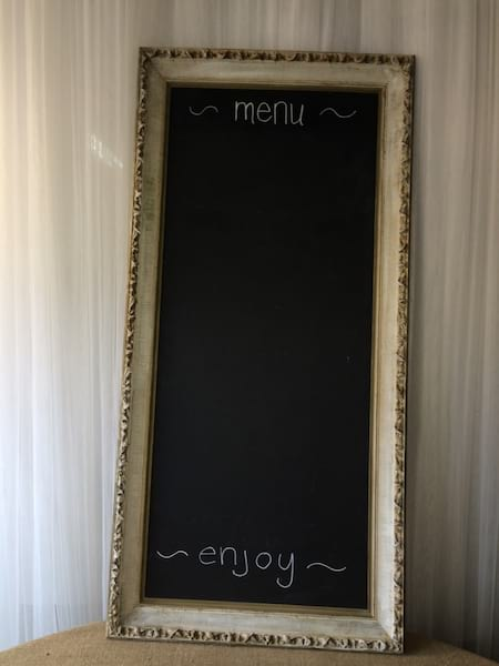 FIONA White and Gold Chalkboard Frame