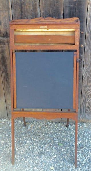 Schoolhouse chalkboard easel