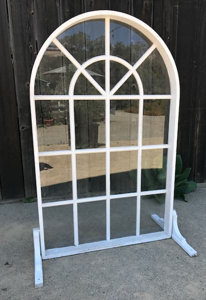 Whitford White arched window