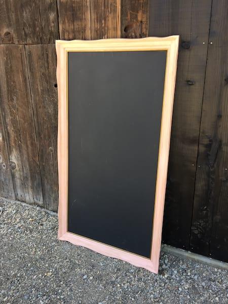 Peach Menu Chalkboard