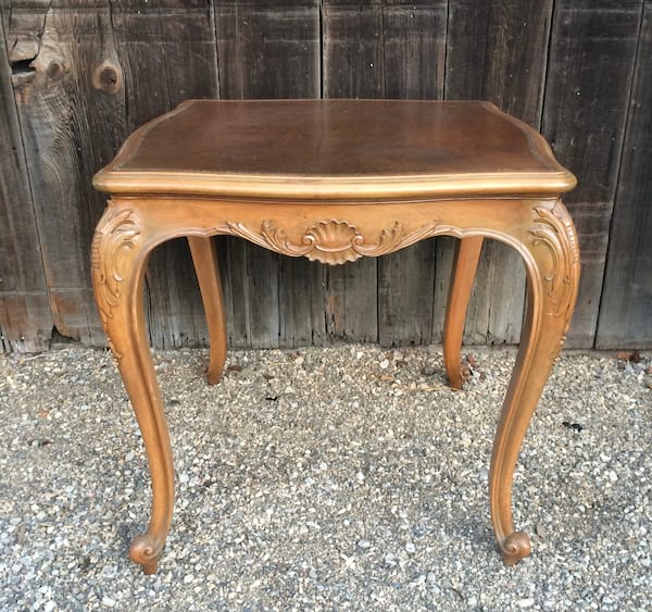 SHILOH SQUARE LEATHER TOP TABLE