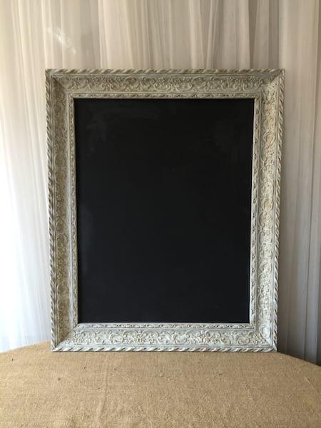 CAMDEN Ornate White Frame Chalkboard