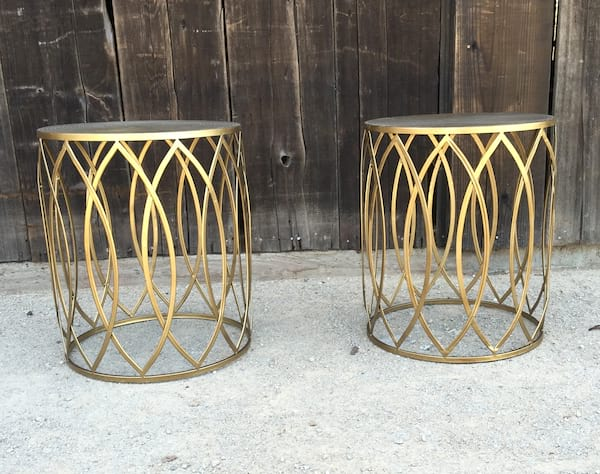 JASMINE GOLD DRUM TABLE
