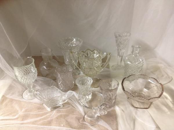 Clear CRYSTAL Glass Vases
