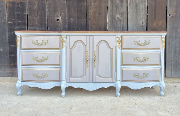 JOSEPHINE GRAY AND TAUPE SIDEBOARD