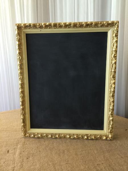 FANNY  Ivory & Gold Frame