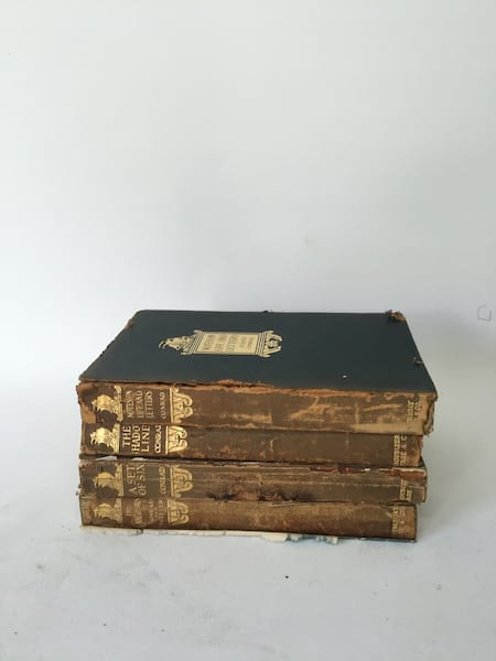 VINTAGE GOLD AND BROWN BOOK
