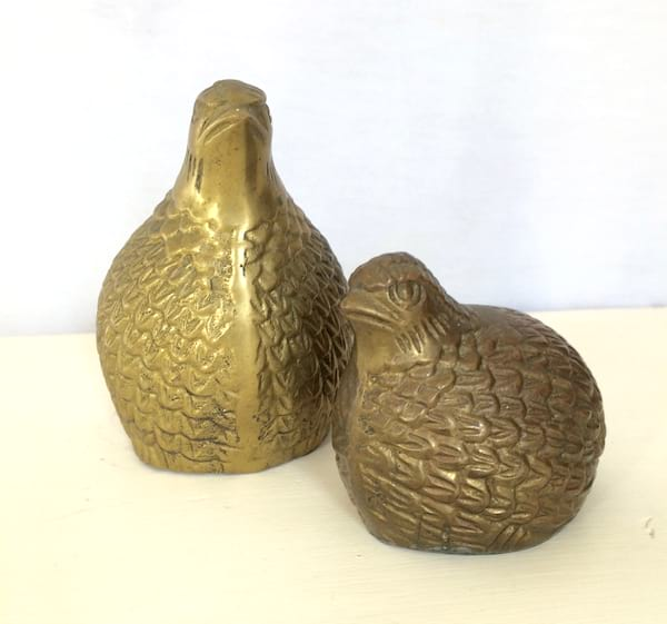 Brass Quail set