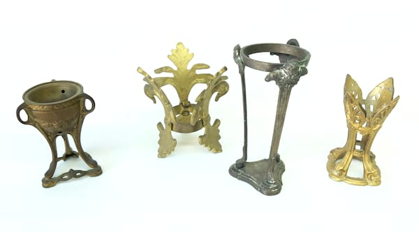 BECKY BRASS CANDLE HOLDERS